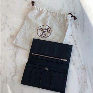 Brand New Hermès Citizen Twill Wallet w Receipt